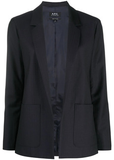 A.P.C. open front tailored blazer
