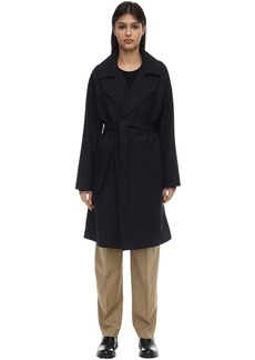 A.P.C. Virgin Wool Blend Canvas Trench Coat