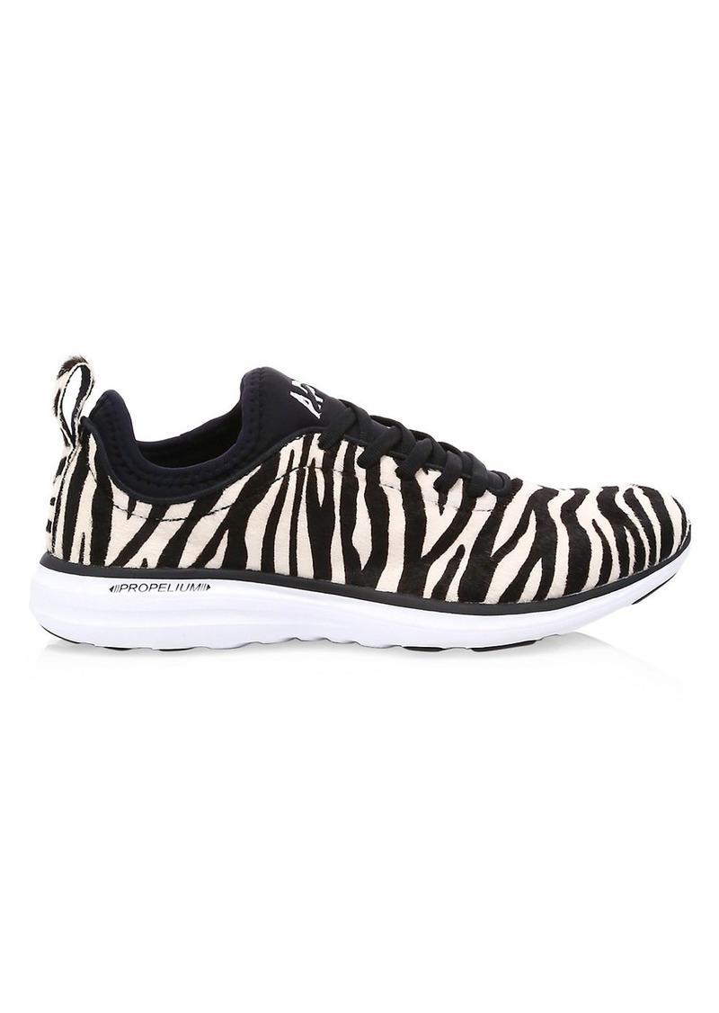APL Athletic Propulsion Labs Women's Phantom Zebra-Stripe Calf Hair Leather Sneakers