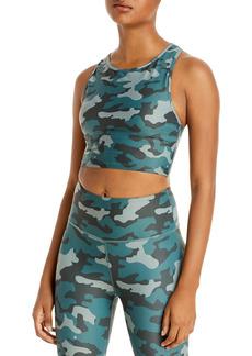 AQUA Athletic Camo Print Knit Sports Bra - 100% Exclusive