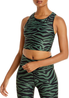 AQUA Athletic Zebra Print Knit Sports Bra - 100% Exclusive