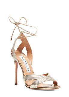 Aquazzura Ari Metallic Ankle Tie Sandal (Women)