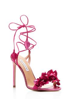 Aquazzura Bougainvillea Floral Ankle Tie Sandal (Women)