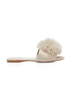 Aquazzura Foxy Slide Sandal with Alpaca Pom (Women)