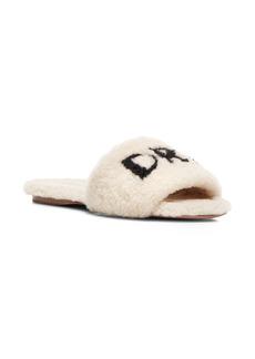 Aquazzura So Dream Genuine Shearling Slide Sandal (Women)