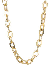 Area 14K Gold Plated Brass Curb Link Hi Necklace