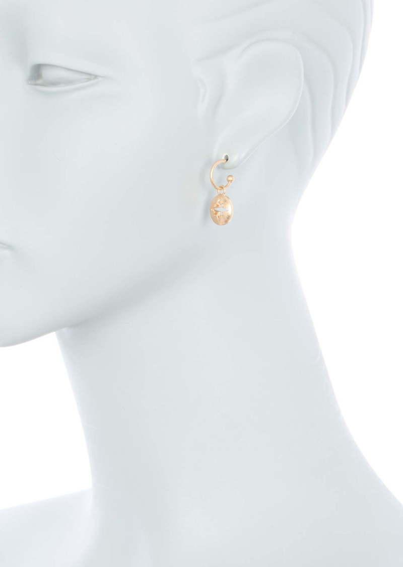 Area 14K Gold Plated Brass Starburst Cutout Drop Earrings