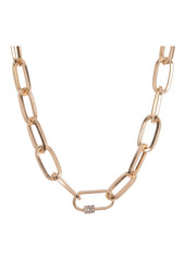 Area 14K Gold Plated Pave Crystal Link Chain Necklace