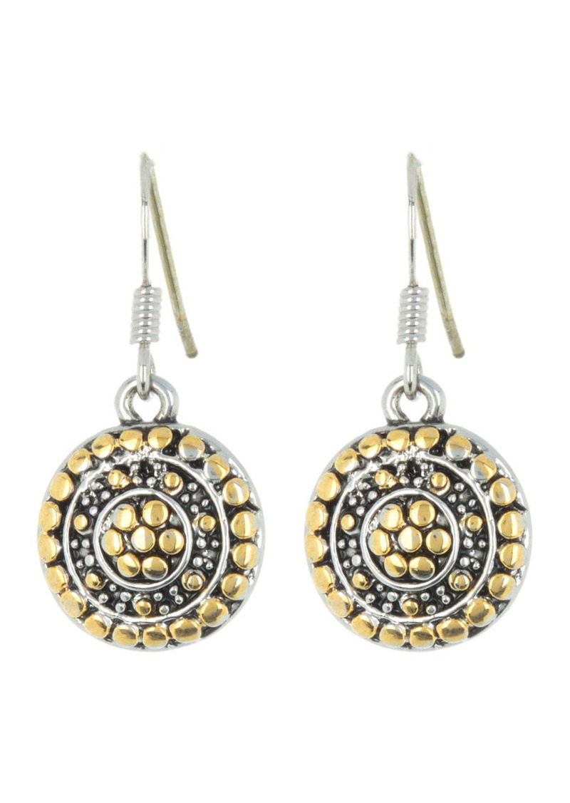 Area Antique Styled Medallion Drop Earrings