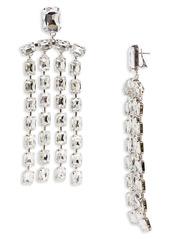 Area Baguette Crystal Fringe Chandelier Earrings