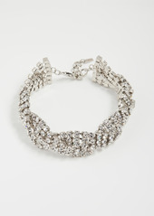 Area Braided Crystal Choker