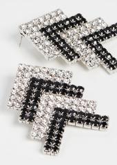 Area Crystal Arrow Earrings