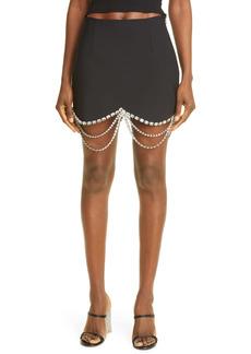 Area Crystal Hem Miniskirt