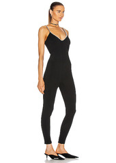 AREA Crystal Strap Camisole Catsuit