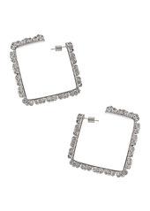 AREA Medium Square Hoop Blanket Stitch Earrings