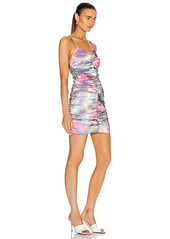 AREA Ruched Mini Dress