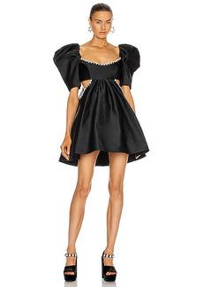 AREA Sculpted Sleeve Cutout Dress