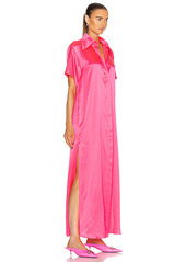 AREA Silk Maxi Tunic Gown