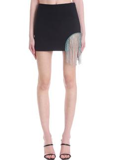 AREA Skirt In Black Polyester