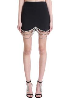 AREA Skirt In Black Viscose