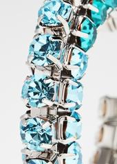 Area Stacked Crystal Hoop Earrings