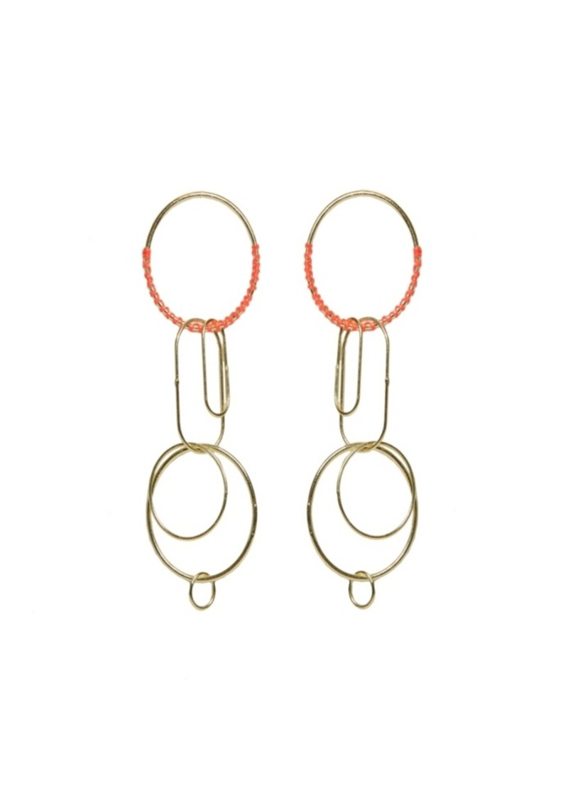 Area Stars Circles with Clips Earrings