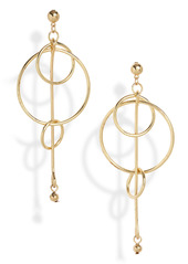 Area Stars Diaz Pendulum & Hoop Drop Earrings
