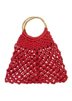 Area Stars Macrame Medium Bag with Wood Handle