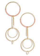 Area Stars Hoops & Paper Clips Drop Earrings
