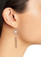 Area Stars Howlite Tassel Drop Earrings