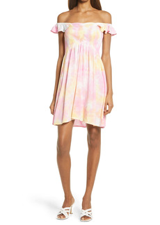Area Stars Kelly Tie Dye Off the Shoulder Minidress