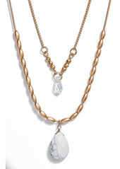 Area Stars Layered Pendant Necklace