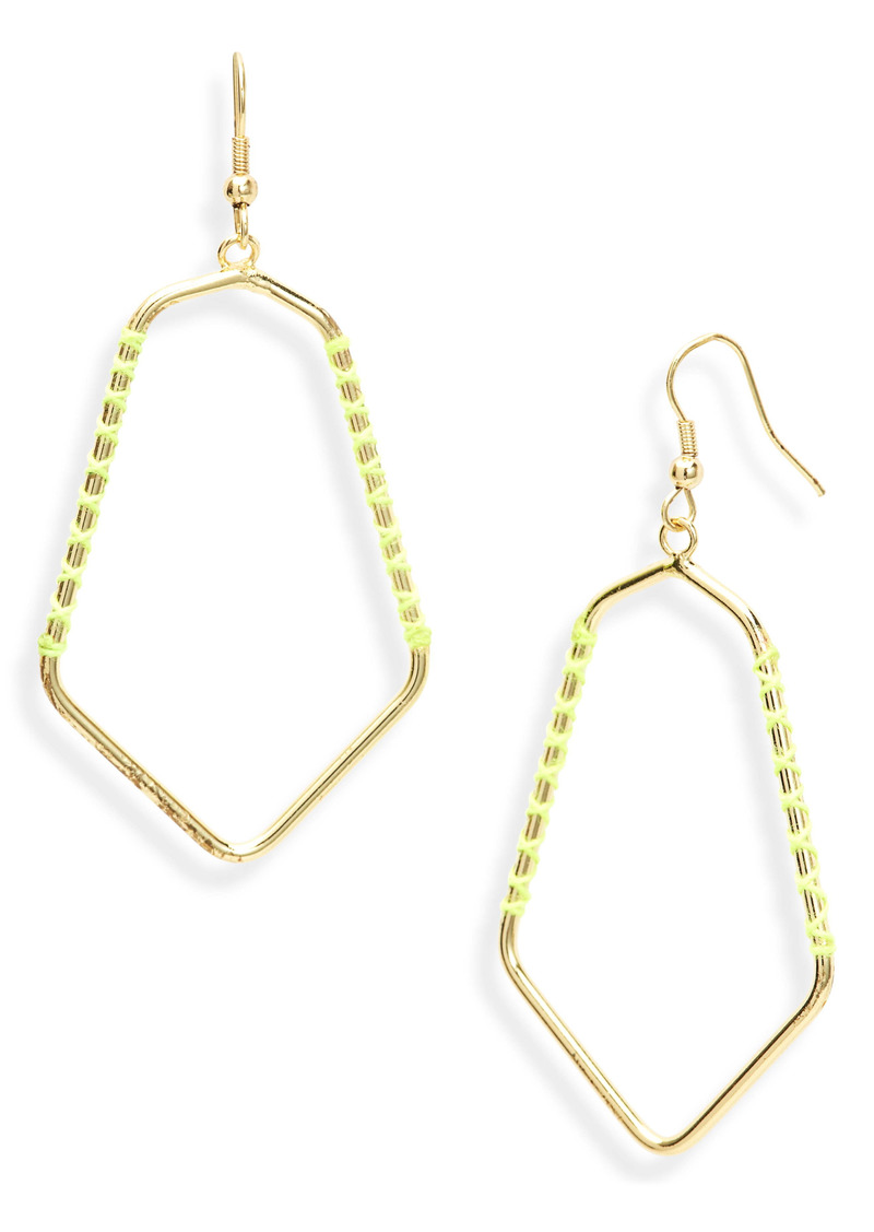 Area Stars Lexi Angular Teardrop Drop Earrings