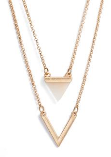 Area Stars Patina Stone Layered Necklace