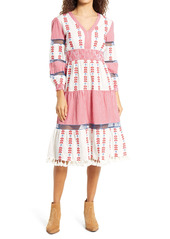 Area Stars Sorrento Gingham Embroidered Dress