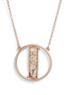 Area Stars Stone Pendant Necklace