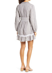 Area Stars Tia Embroidered Long Sleeve Minidress
