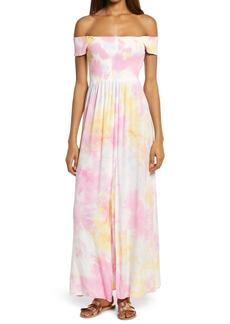 Area Stars Tie Dye Off the Shoulder Dress