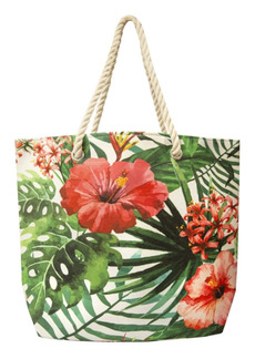 Area Stars Women's Floral Vine Beach Tote Bag