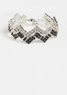 Area Zip Zag Crystal Choker Necklace