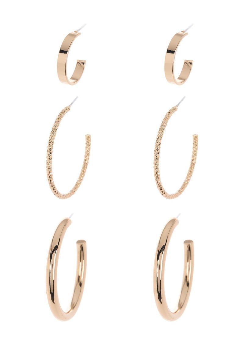 Area Assorted Hoop Earrings Set - Set of 3