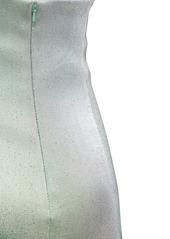 Area Asymmetrical Embellished Lamé Mini Dress