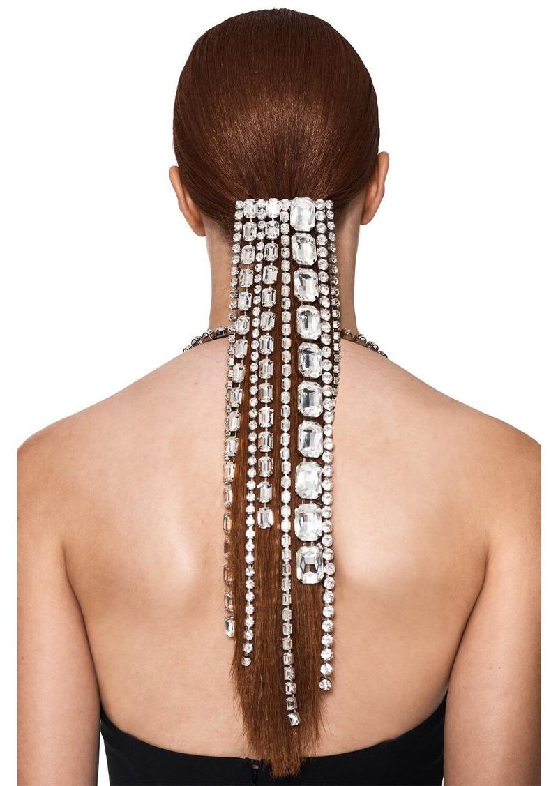 Area Baguette Crystal Fringe Hair Clip