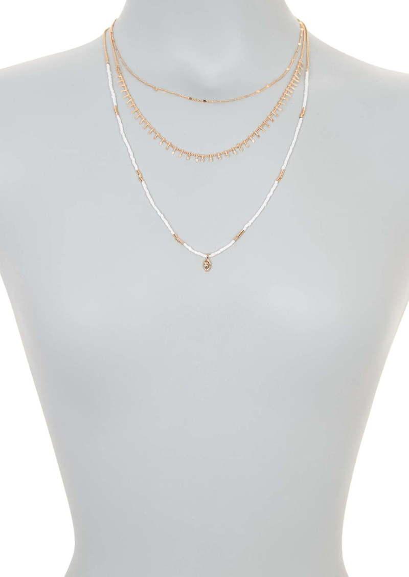 Area Bead & Stone Necklace Set