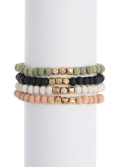 Area Beaded Stretch Bracelet Set