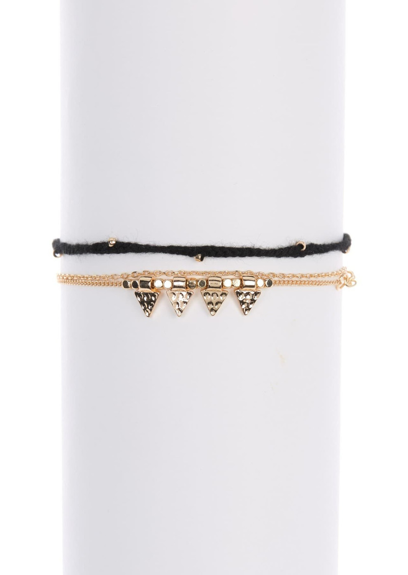 Area Black Bling Bracelet Set