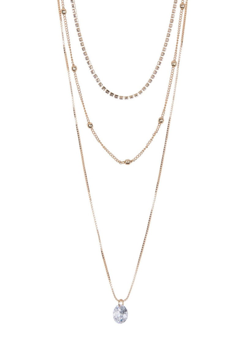 Area Bling Layered Necklace Set