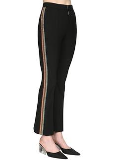 Area Bonded Wool Crop Pants W/ Crystal Bands