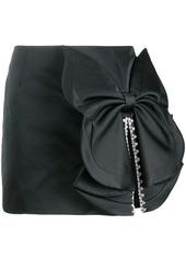 Area bow embellished mini skirt