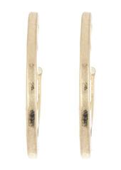 Area Brushed Triangle Side Cutout Open Hoop Earrings